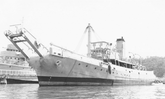 HMAS Koala commissioned into the Royal Australian Navy on 7 February 1940. She was one of three Boom Defence Vessel's constructed by Cockatoo Island Dockyard.