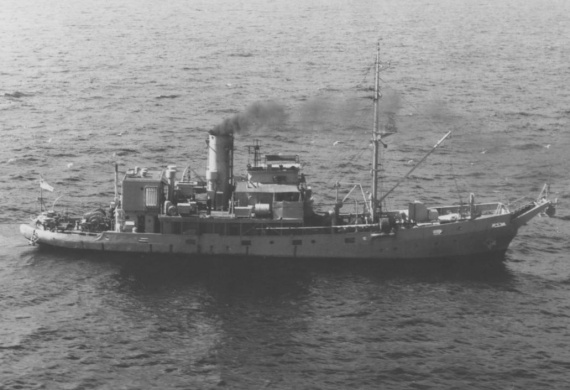 HMAS Kookaburra was used for training, boom defence and examination during her commissison.