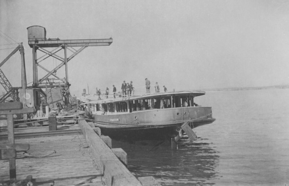 The ferry Kuttabul under construction at Newcastle, NSW 1922