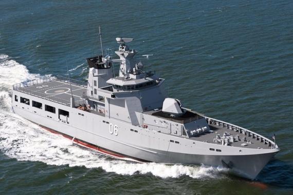 An Offshore Patrol Vessel, designed by Lürssen.