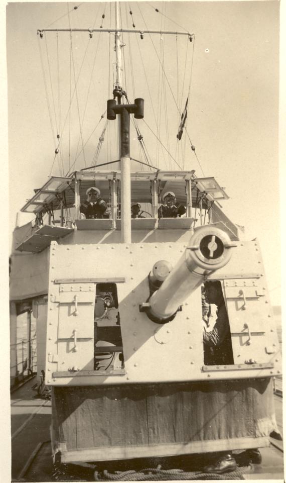 Officers on the bridge of HMAS Success circa 1930