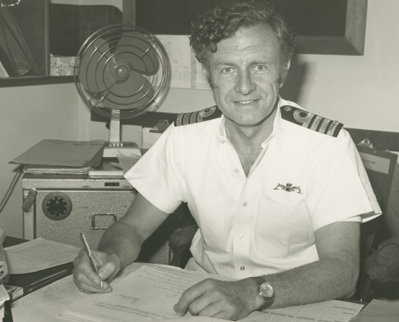 Captain W.L. Owen, RAN, the first commanding officer of HMAS Platypus.