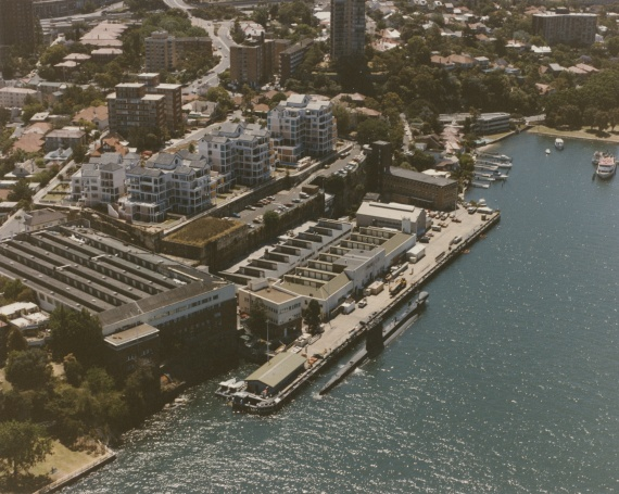 An aerial view of HMAS Platypus c.1990