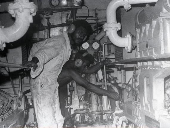 Papuan sailors aboard Buna