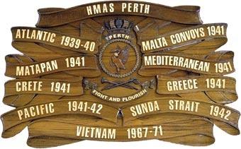 HMAS Perth battle honours.