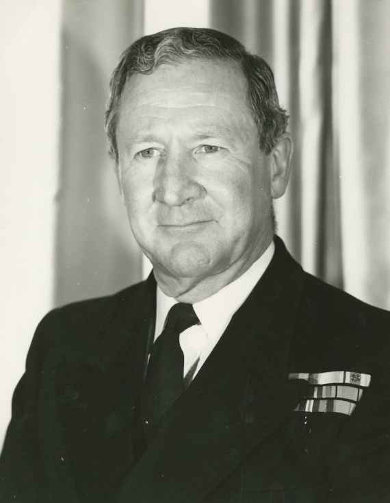 Captain D.C. Wells who assumed command of Voyager on 21 September 1960.