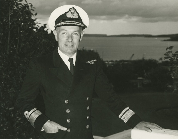 Rear Admiral Davidson during his appointment as Flag Officer Commanding the East Australian Area.