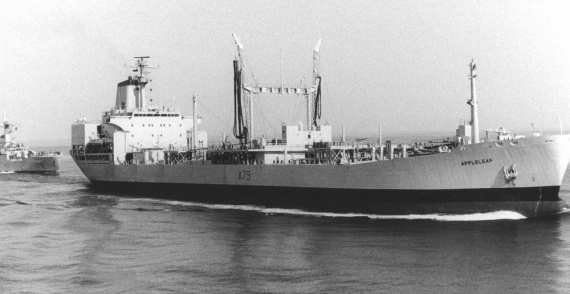 RFA Appleleaf prior to being renamed HMAS Westralia