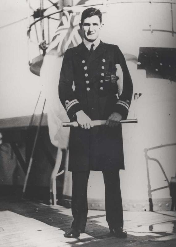 Lieutenant Commander Robert W. Rankin, RAN, took command of HMAS Yarra on 11 February 1942