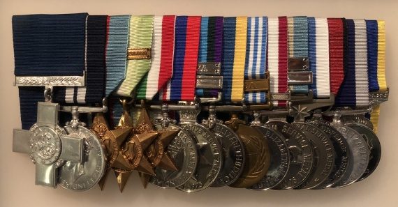 Chief Petty Officer Jonathan Rogers' George Cross, Distinguished Service Medal and campaign medals are now on display in the Hall of Valour at the Australian War Memorial, Canberra.
