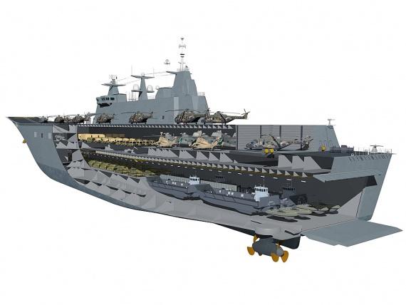 El concepto de barco de asalto anfibio clase Canberra