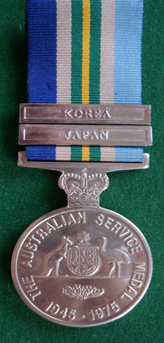 Australian Service Medal 1945 - 1975 with Japan Clasp.