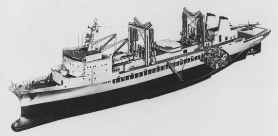 Drawing of HMAS Success.