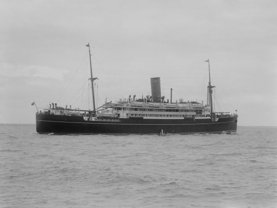 The TSMV Westralia operating in Australian waters before World War II (Allan C. Green, State Library of Victoria).
