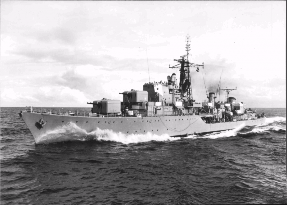 HMAS Duchess returning to Australia from South East Asia on 30 June 1965.