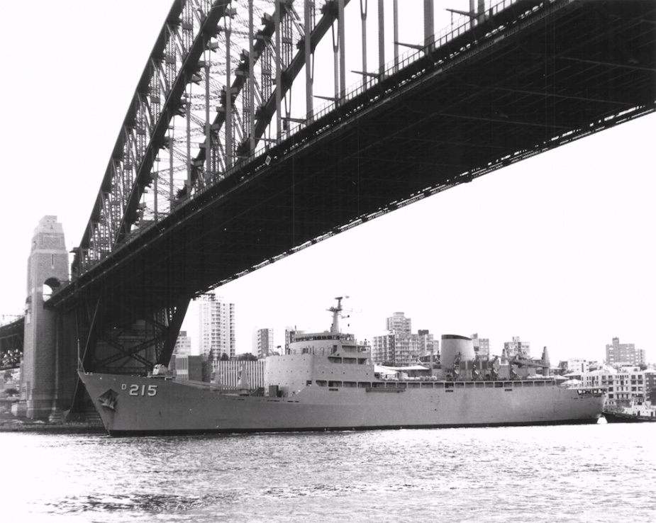 Stalwart passing under the famous Sydney Harbour Bridge