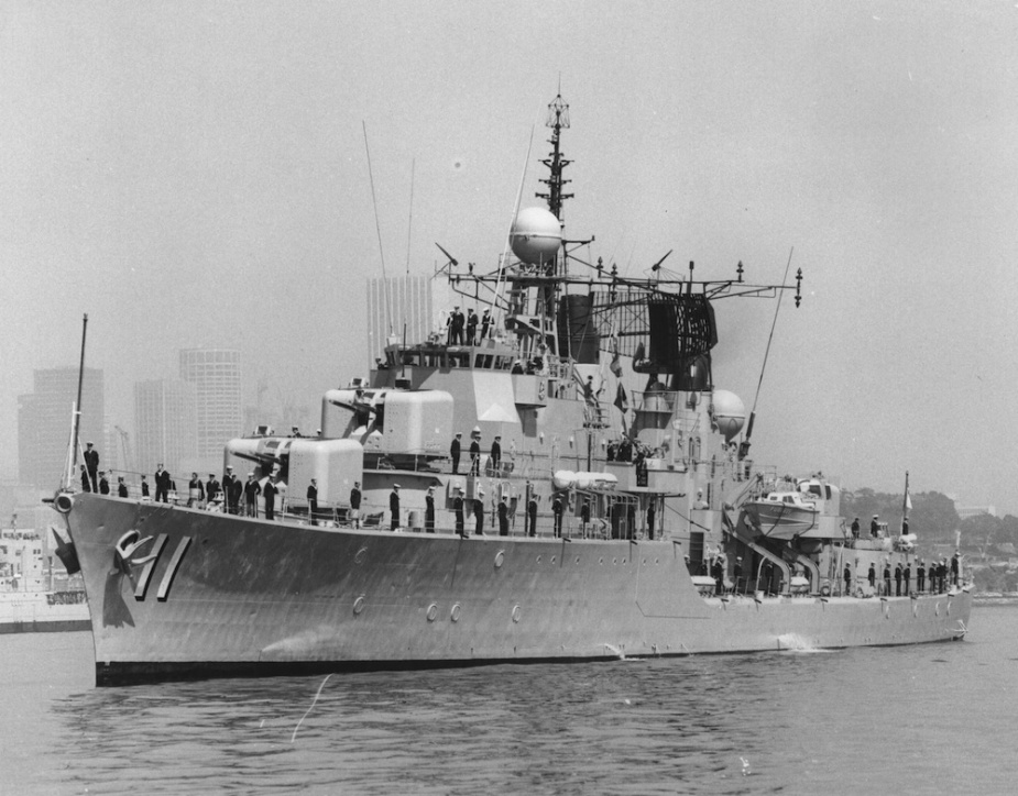 HMAS Vampire home at Garden Island after six months in the Far East, Japan and Indian Ocean, June 1979.