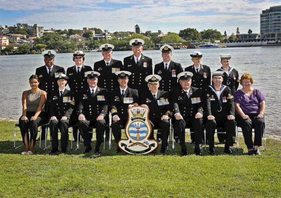 HMAS Moreton's commissioning crew. (LAC Brenton Kwaterski)