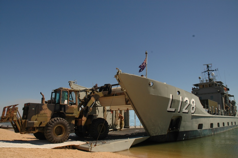 Labuan unloading Army vehicles at McGowan's Beach near Kalumburu, Western Australia, May 2008