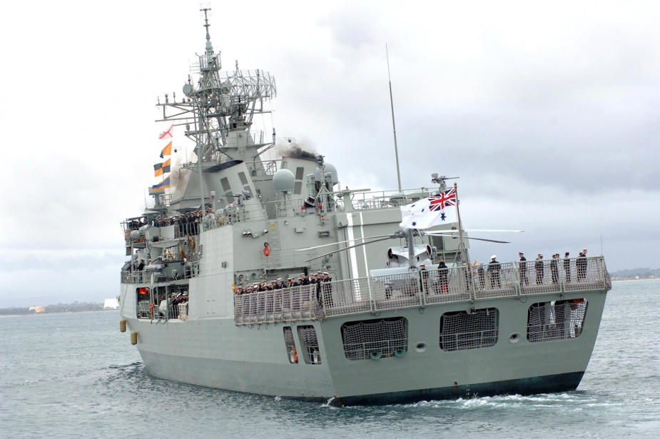 HMAS Warramunga departs Parks Wharf at HMAS Stirling for a six-month deployment to the Middle East region.