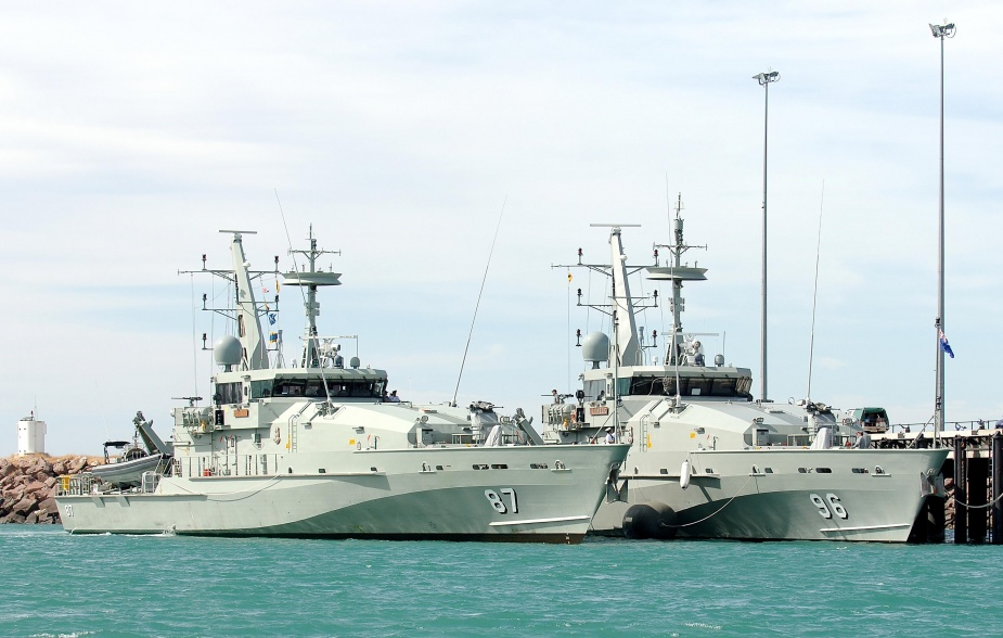 HMAS Pirie and sister ship HMAS Launceston alongside in Darwin following a deployment to the south-west Pacific, May 2008.