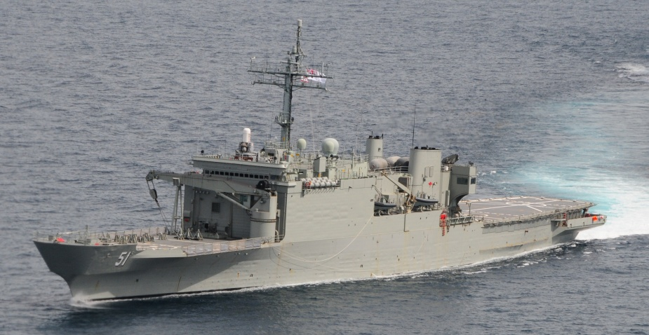 Kanimbla off Palm Island, Townsville from her embarked Sea King helicopter during Exercise SQUADEX, 26 February 2009. (POET Peter Cannon)