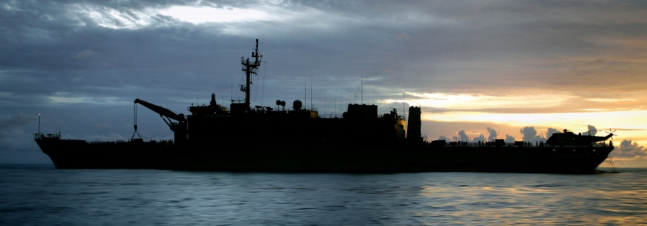 The sun sets over Kanimbla during Operation Padang Assist (POIS Andrew Dakin)