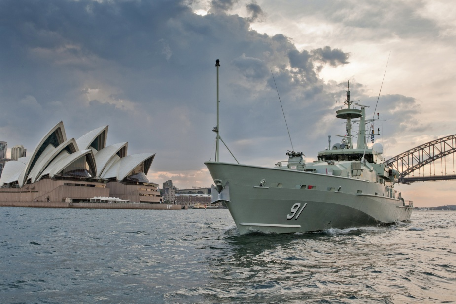 HMAS Bundaberg during a port visit to HMAS Waterhen, Sydney.