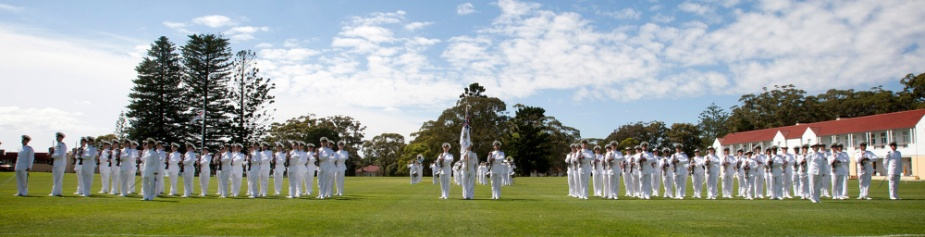 New Entry Officers' Course 45 general salute at the Graduation Ceremony held at HMAS Creswell in November 2011.
