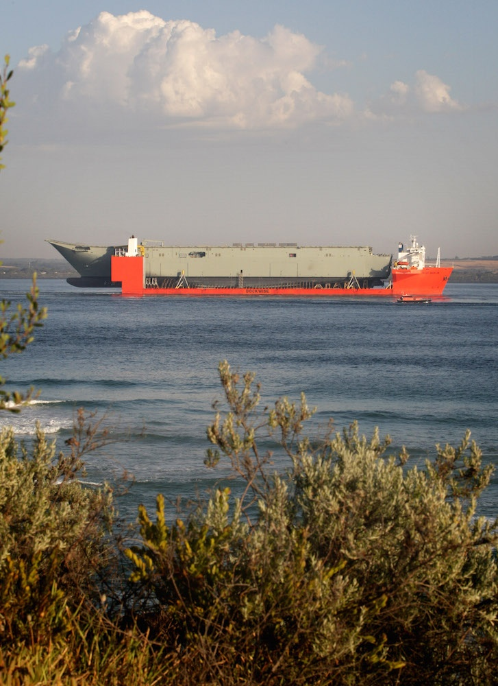 Adelaide (III) enters Port Phillip Bay for the first time on MV Blue Marlin.