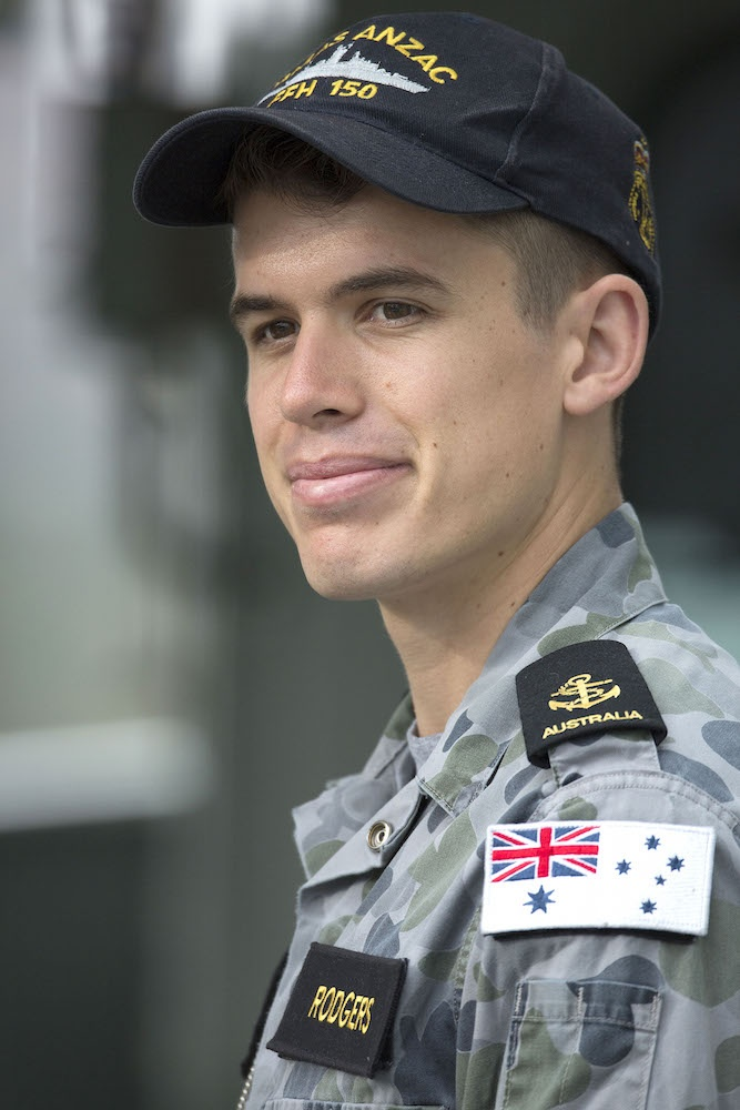 Leading Seaman Electronic Warfare Morgan Rodgers from HMAS Anzac
