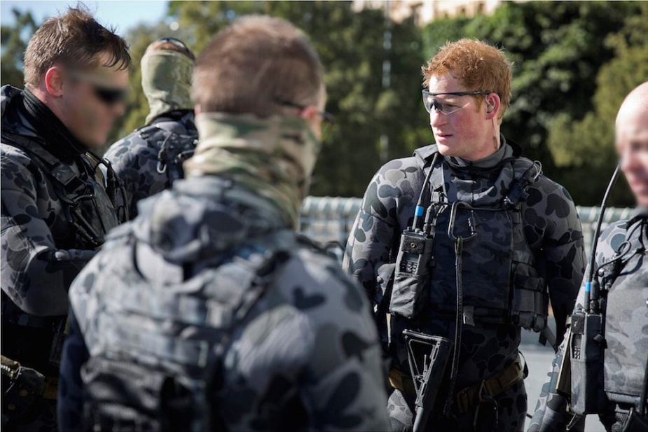 Captain Wales during his Army secondment posted to the 2nd Commando Regiment exercises with RAN Clearance Divers. Moving through HMAS Sydney, the team were required to clear the ship of hostile role players after a water insertion.
