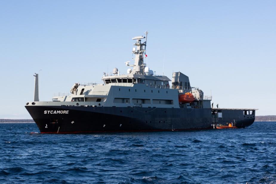 Multi-role Aviation Training Vessel (MATV), MV Sycamore in Jervis Bay.