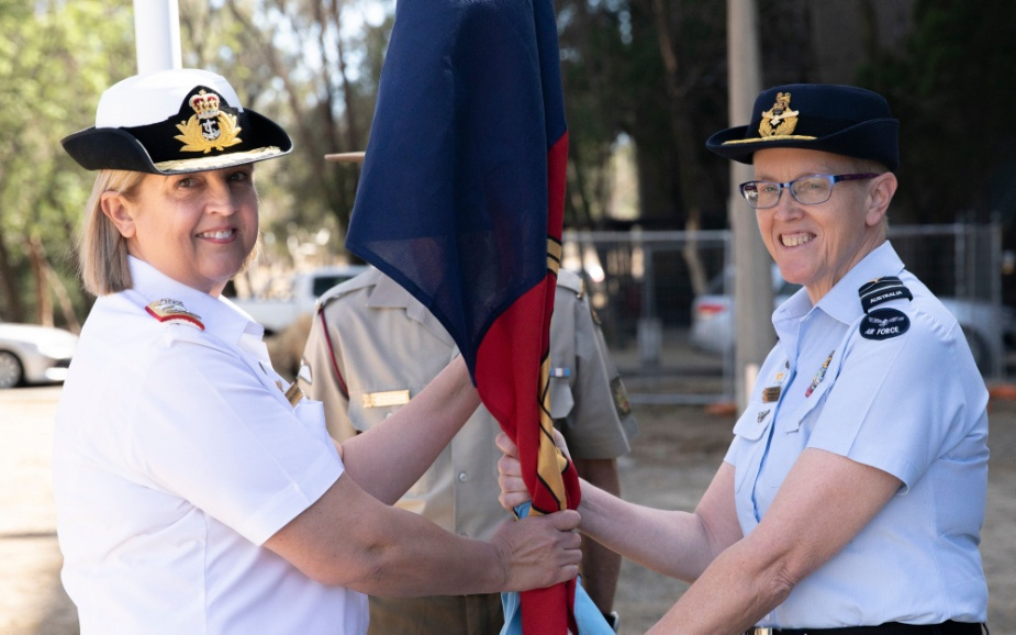 Rear Admiral Sarah Sharkey takes over as Commander Joint Health and Surgeon General of the ADF from Air Vice Marshal Tracy Smart, December 2019.