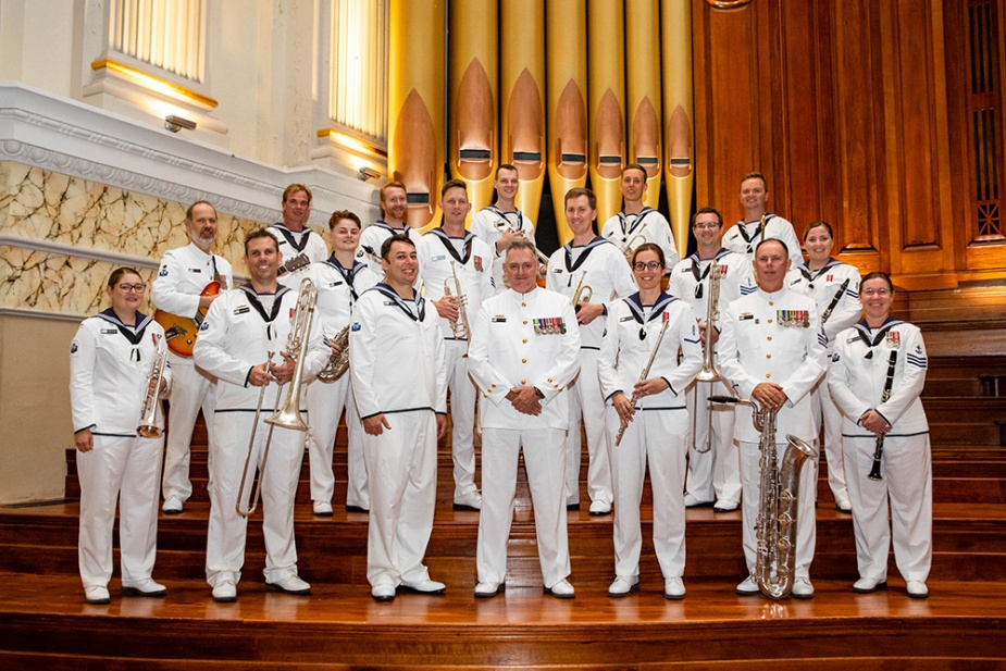 RAN Band Queensland in City Hall Brisbane, Queensland.