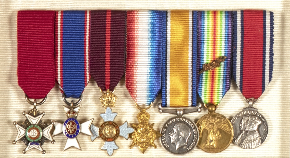 Admiral Hyde's awards include; Knight Commander of the Order of the Bath, Commander of the Royal Victorian Order, Commander of the Order of the British Empire and a Mention in Desptaches.