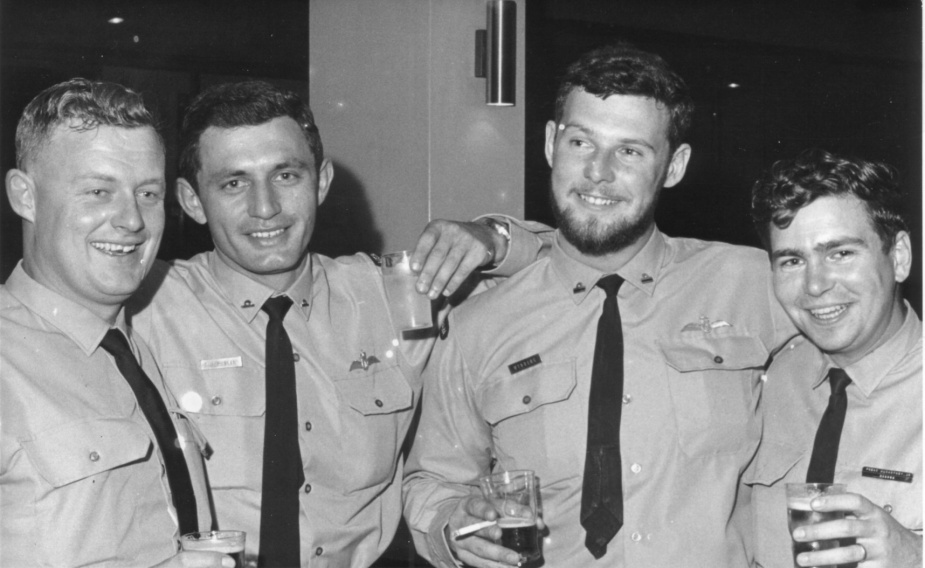 <br /> Members of 2nd contingent RAN Helicopter Flight Vietnam. Petty Officer KW Camm, Sub Lieutenant AJ Heulin, Lieutenant TB Wynberg, Petty Officer JR MacArtney.