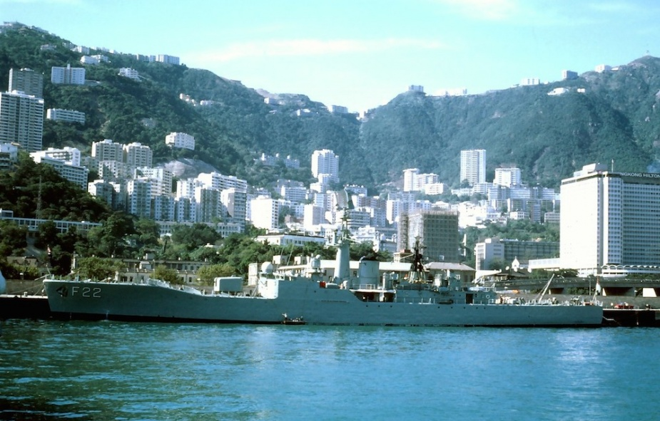 HMAS Derwent alongside in Hong Kong