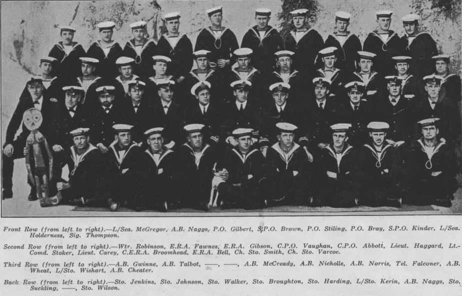 Captain of HMAS AE2, Lieutenant Commander Stoker with his crew.