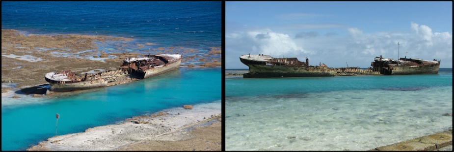 The remains of the once proud Protector aground on Heron Island, Queensland.