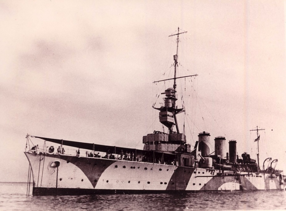 HMAS Adelaide wearing her disruptive pattern camouflage during WWII
