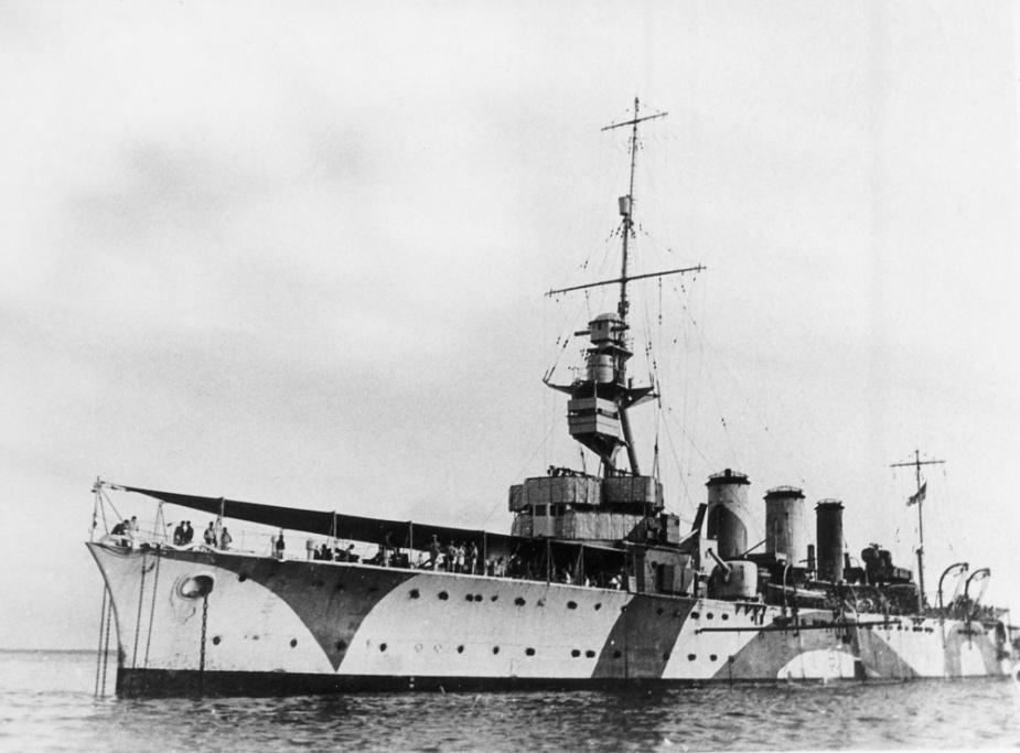 HMAS Adelaide wearing her disruptive pattern camouflage during WWII