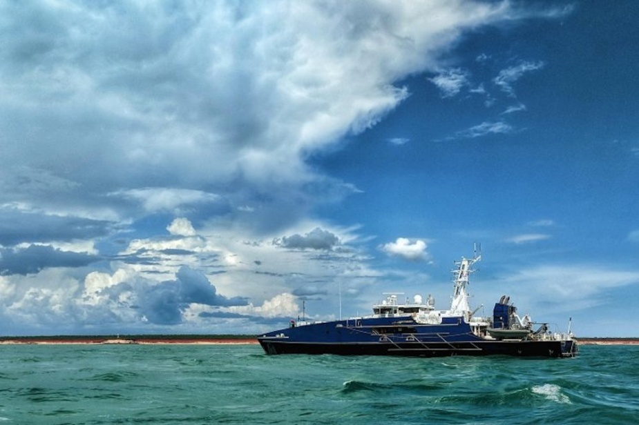 ADV Cape Fourcroy rescued nine Papua New Guinean fishermen after they drifted in the Torres Strait for six days.