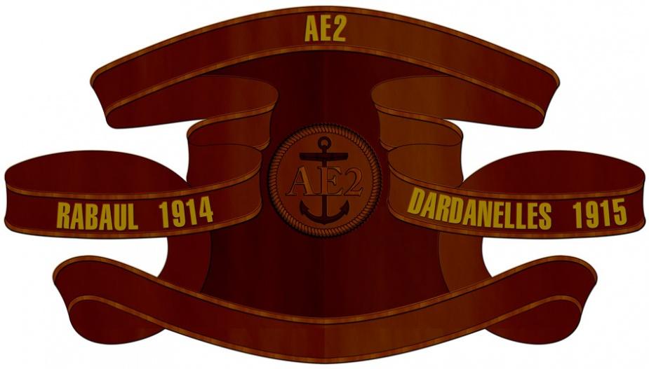 HMAS AE2 Battle Honour Board.