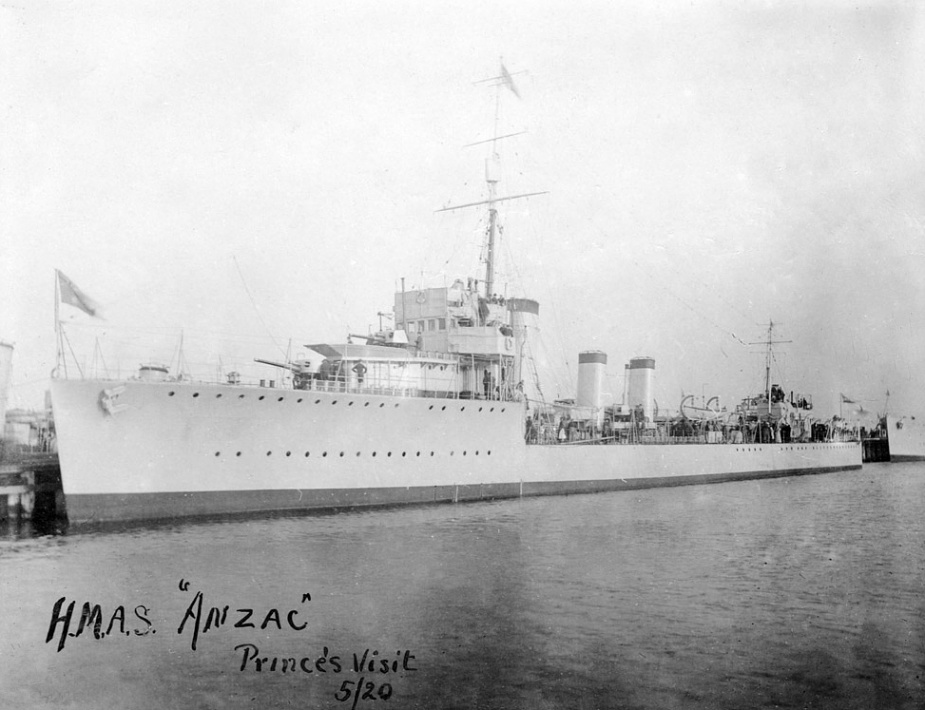 HMAS Anzac in Melbourne for the visit of Edward, the Prince of Wales in 1920