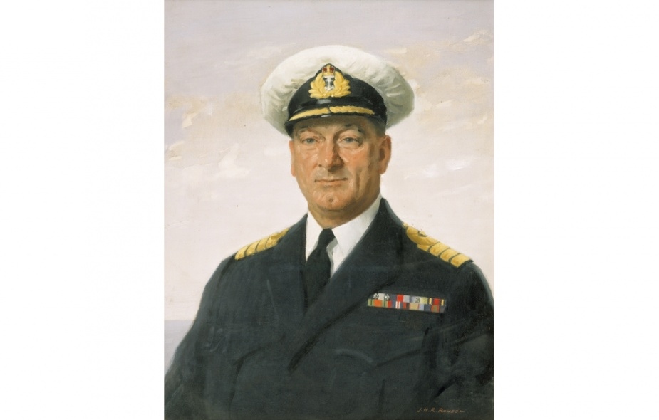 Captain Stanley Darling, DSC and two Bars, VRD, RANR. (Australian War Memorial)