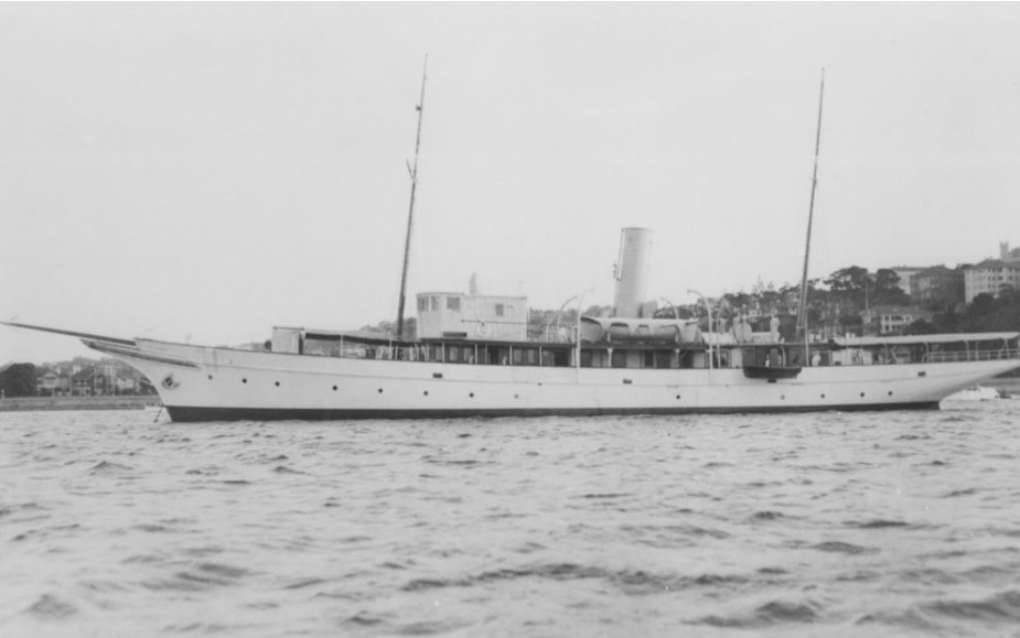 Adele as she appeared as a private yacht, circa 1939.