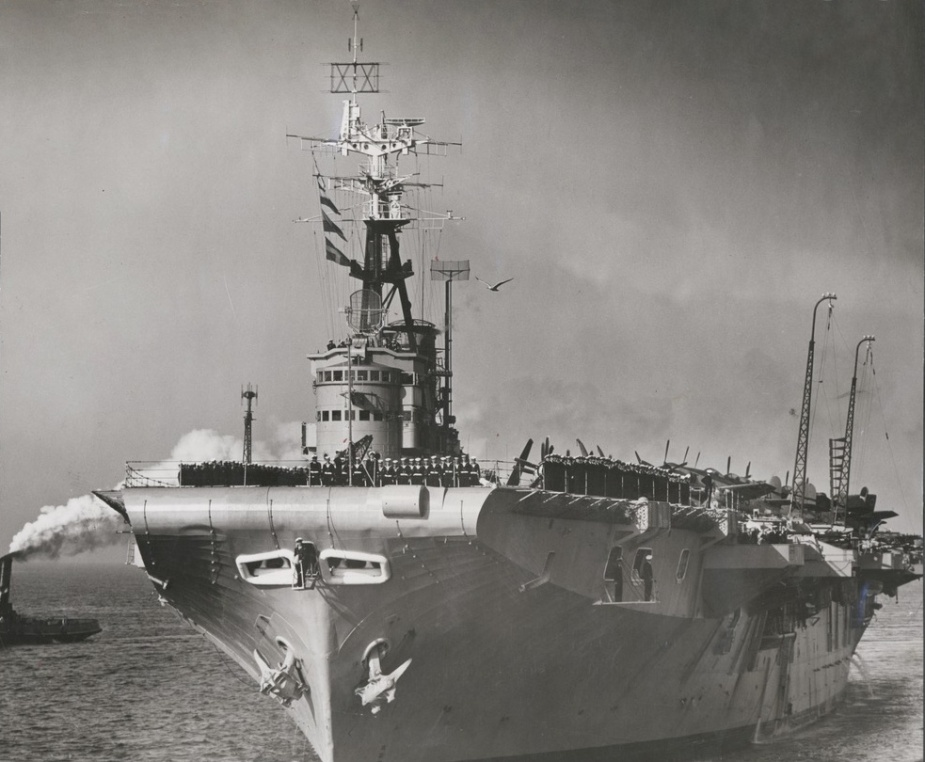 Sydney berthing at Station Pier, Port Melbourne following active service in Korea