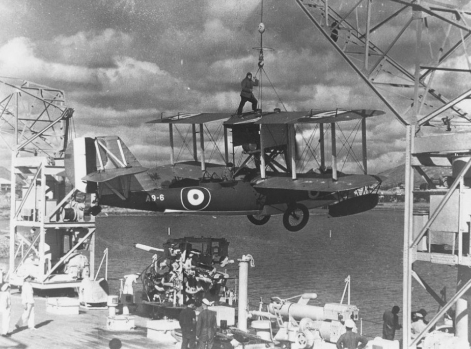 Preparing aircraft for flight was a precarious business in anything other than a calm sea state.