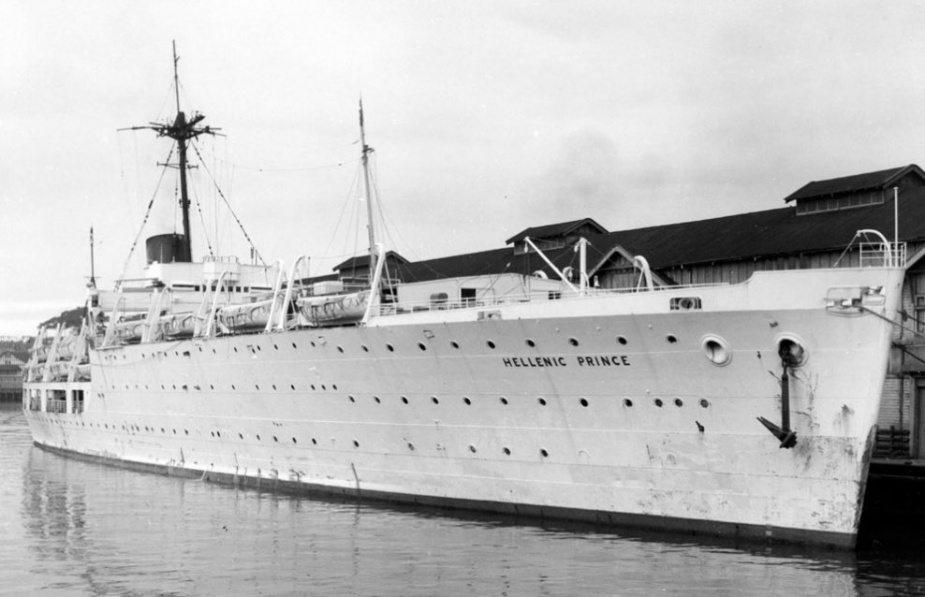 The former Albatross as she appeared following conversion to the Hellenic Prince.